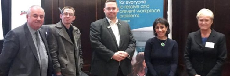 Speakers from Acas Mental Health Conference